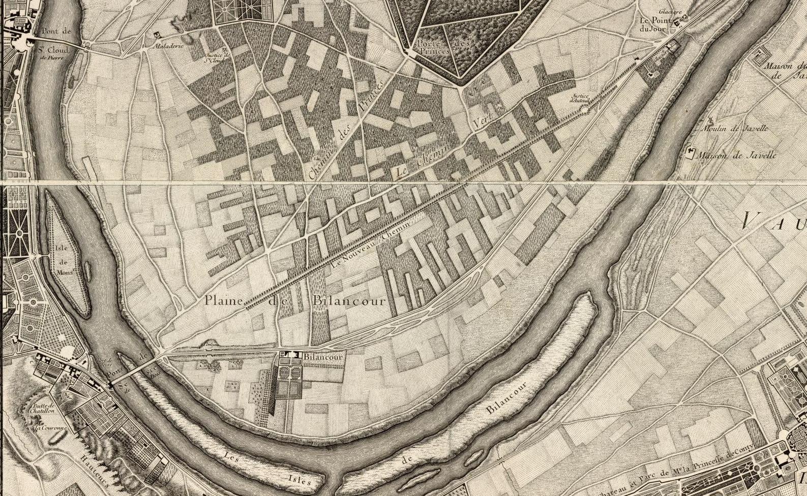 Plan de Roussel,. 1731.