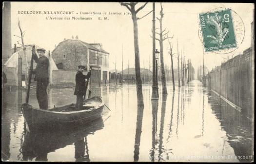 Avenue des Moulineaux crue de 1910