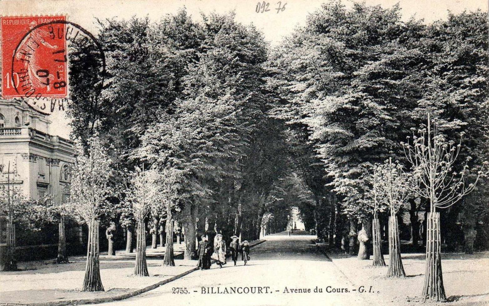 Avenue du Cours (Emile Zola). Vers 1900.