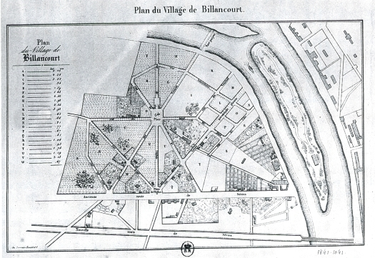 Plan du Village de Billancourt