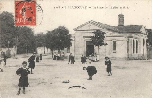 Place de l'église vers 1900