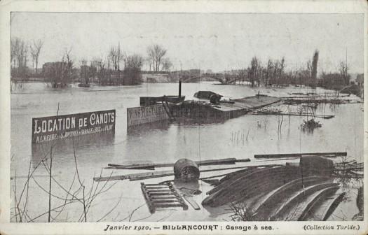 Crue de 1910. Quai du Point-du-Jour