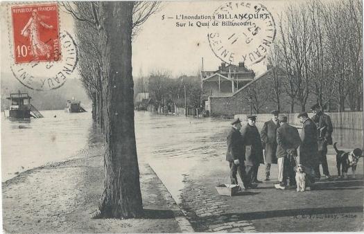 Quai de Billancourt crue de 1910