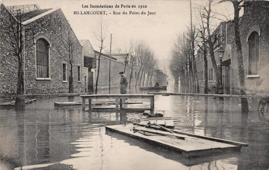 Renault Rue du Point du Jour crue de 1910