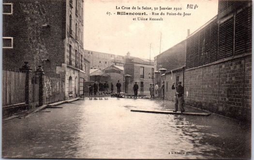 Renault Rue point-du-jour. Crue de 1910.