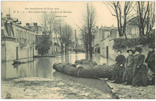 Rue de Meudon crue de 1910