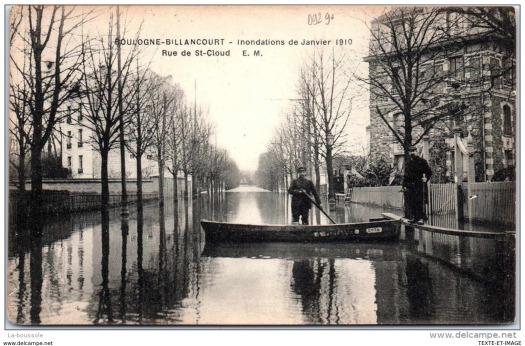 Rue de Saint-Cloud. Crue de 1910.