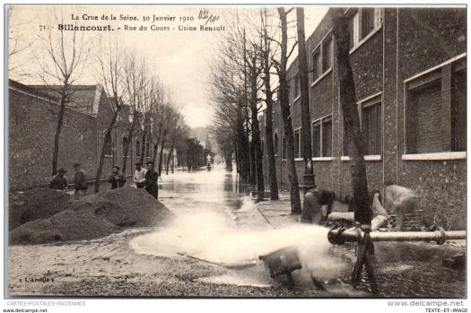 Crue de 1910, rue du Cours.
