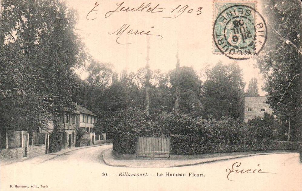 Le Hameau Fleuri en 1903