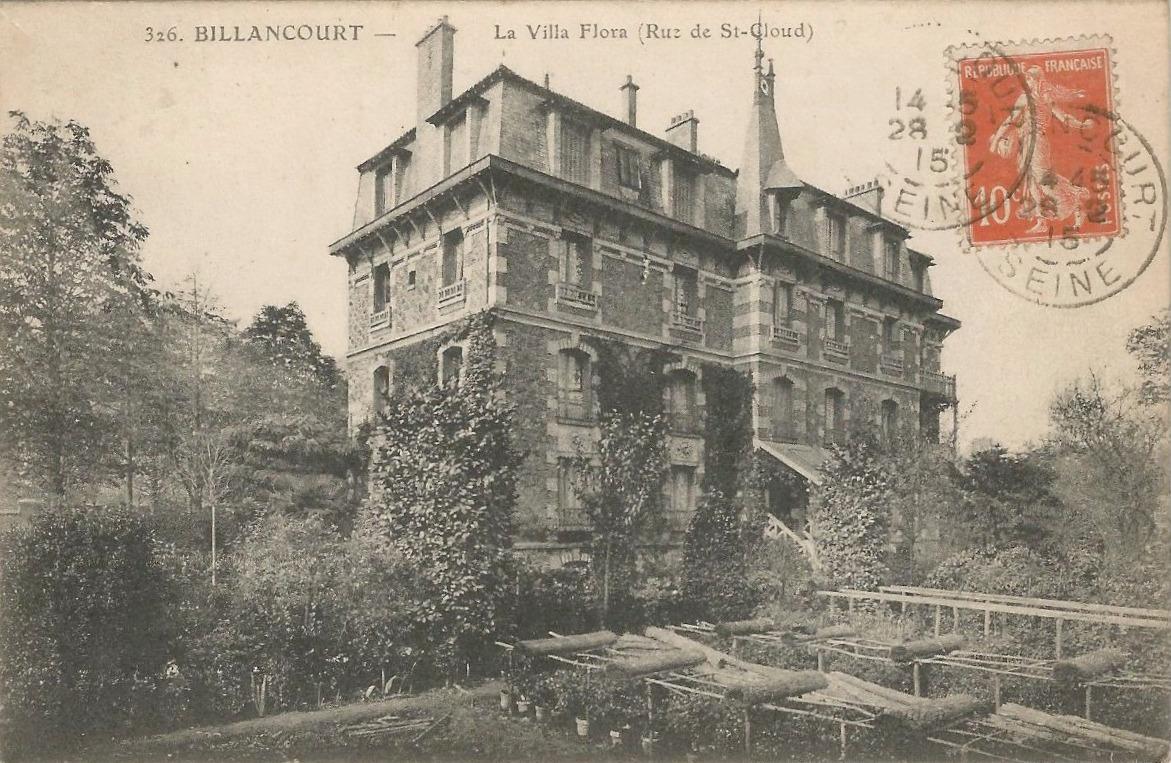 Villa Flora Rue de Saint-Cloud 1915