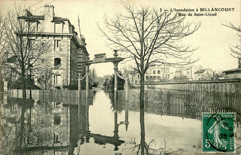 Rue de Saint-Cloud-Villa Flora en 1910