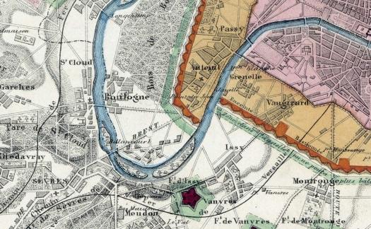 1841 Enceinte de Thiers - Boulogne