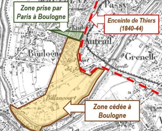 1860 cession de Billancourt à Boulogne