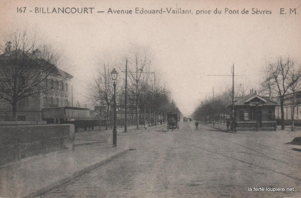 Avenue Edouard Vaillant le Pont de Sèvres et l'Hotel du Parlementaire