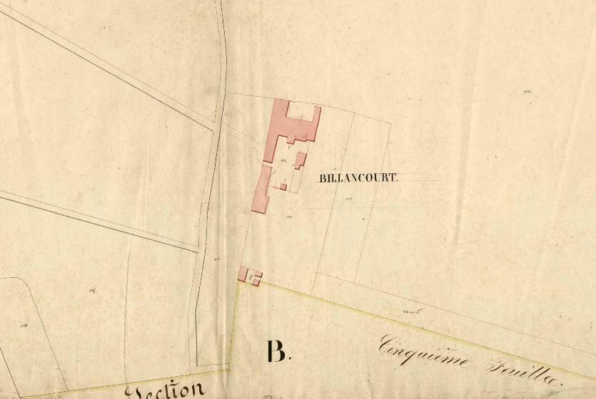 Cadastre 1823 Auteuil zoom sur la Ferme