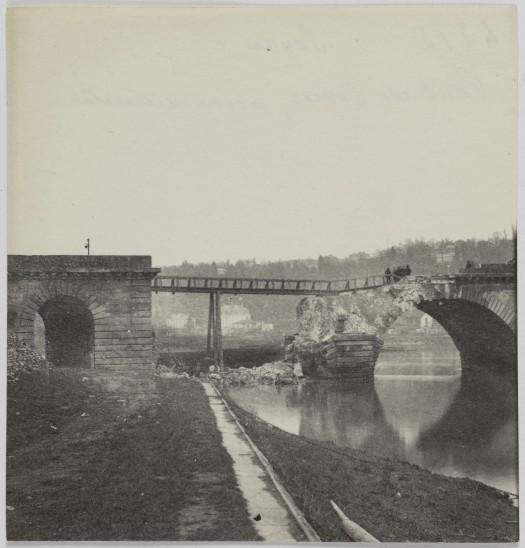 Pont de Sèvres, arche détruite 1871