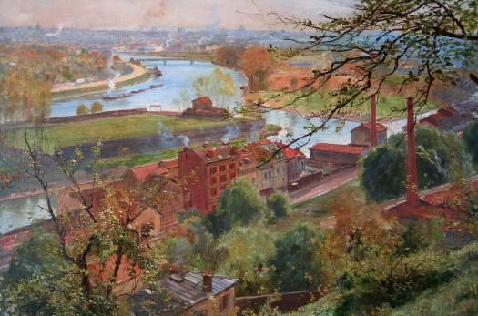 Louis Tauzin - Ile Seguin vue des terrasses de Meudon 1900