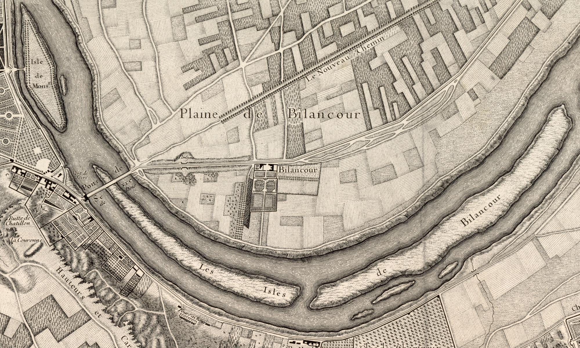 1731 Plan de Roussel - extrait Billancourt