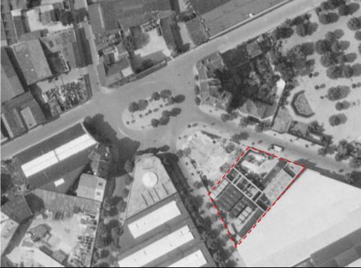 Place Bir-Hakeim Eglise et Ecole Sévigné en 1950