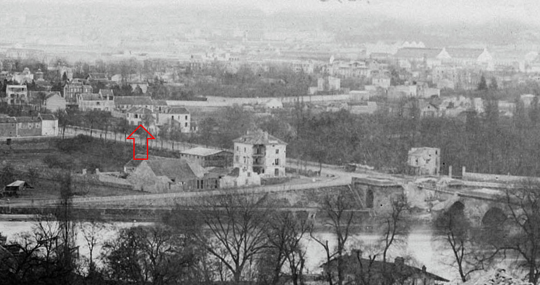 Hippolyte Blancard (extrait)- position de l'épicerie bombardée 1871
