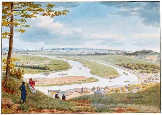 Jean-Lubin Vauzelle -Vue de Paris et de la Seine depuis St-Cloud-vers 1812