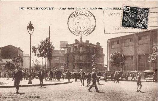 Place Jules Guesde et maison Bican 1931