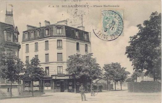 Place Nationale vers 1905 Maison Geiger
