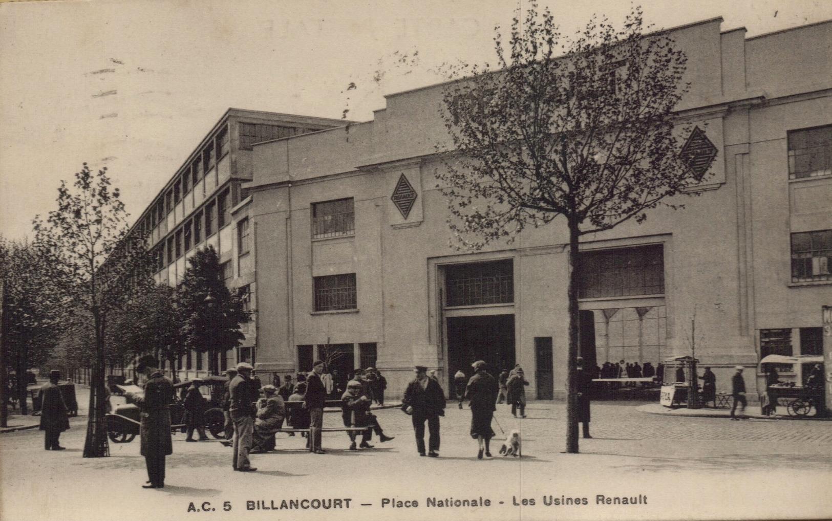 Place Nationale portail des usines Renault
