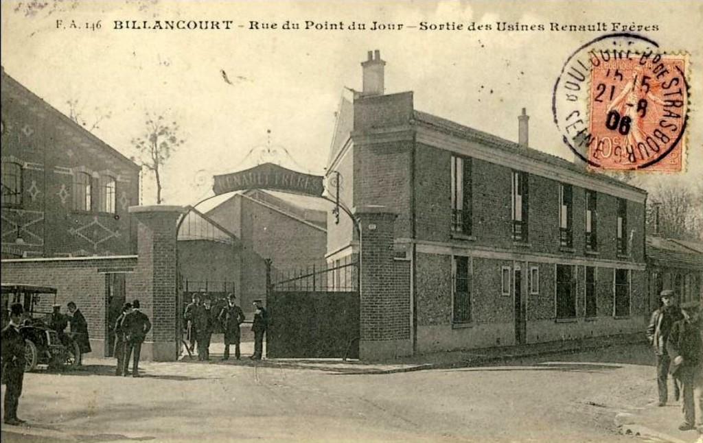 Entrée usine Renault Frères vers 1906