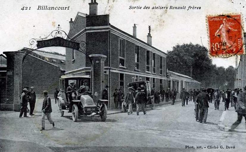 Entrée usine Renault Frères vers 1908