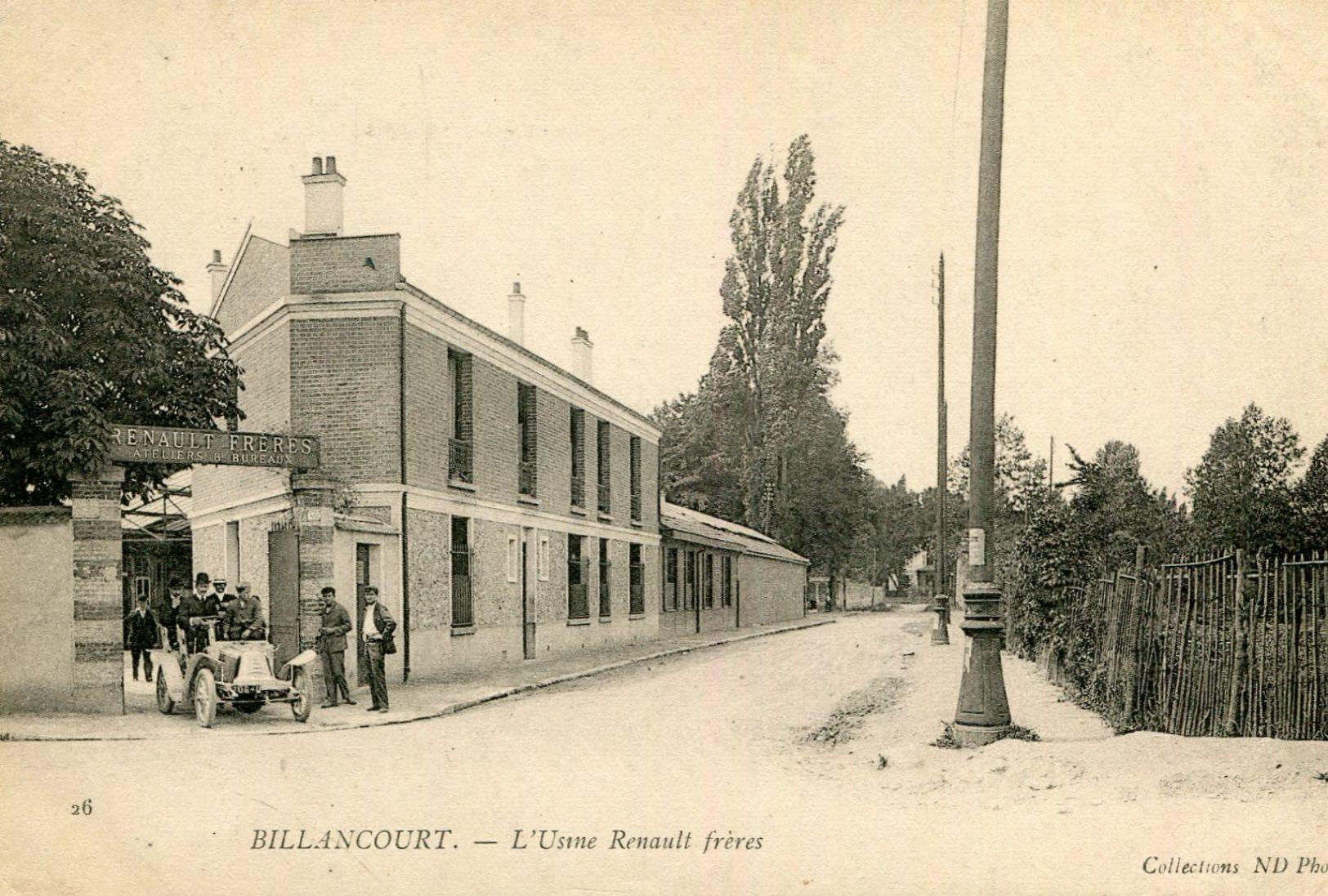 Entrée des usines Renault, vers 1900