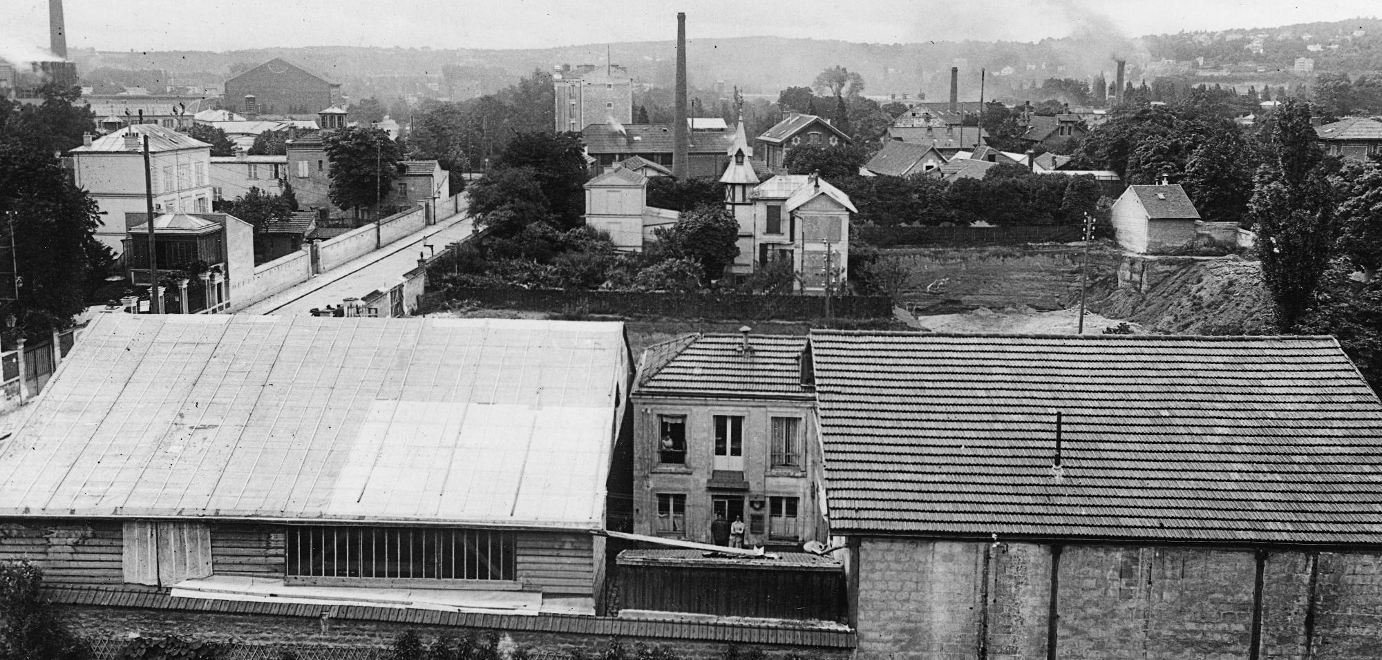 Les ateliers Voisin, 4 rue de la Ferme et maison pointue