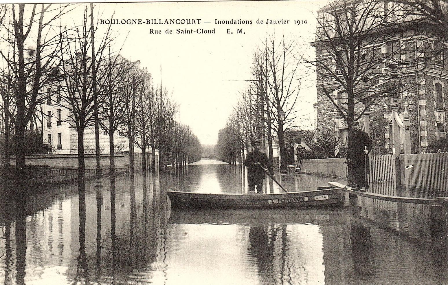 Rue de Saint-Cloud Villa Flora 1910
