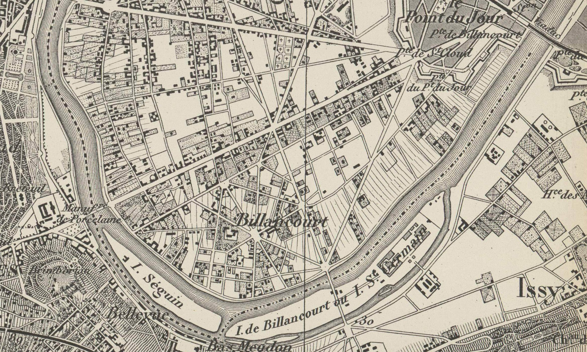 1970 Carte du département de la Seine : n° 21, Sèvres, [ca 1870].
