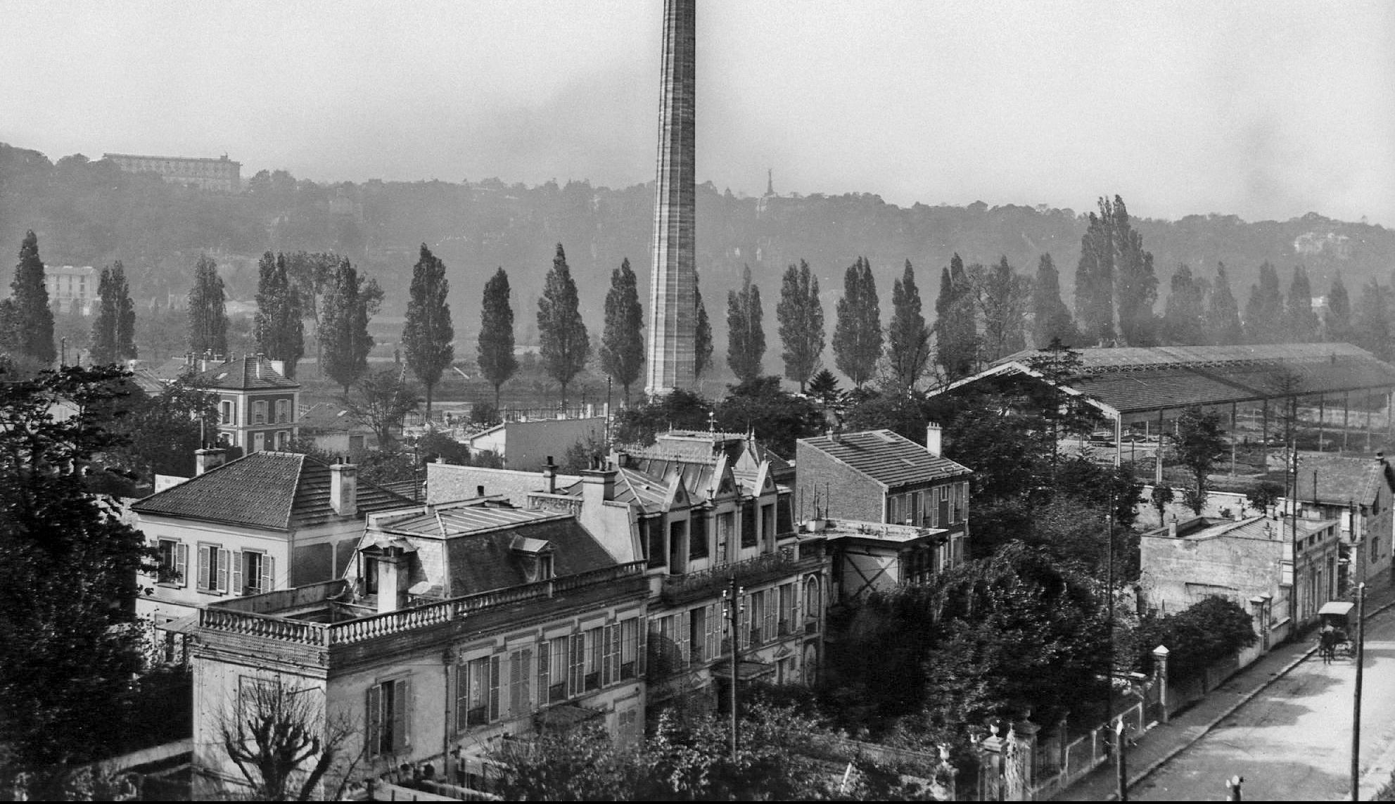 1912 Rue Théodore vue du toit de l'usine Renault