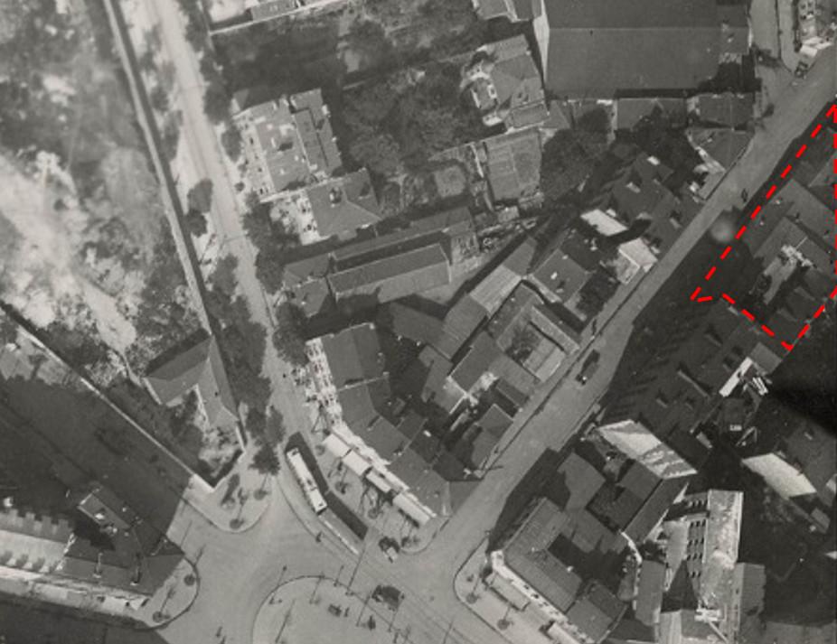 1925 Photo aerienne propriété mystérieuse