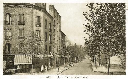 Angle rue de St-Cloud-Av E Zola