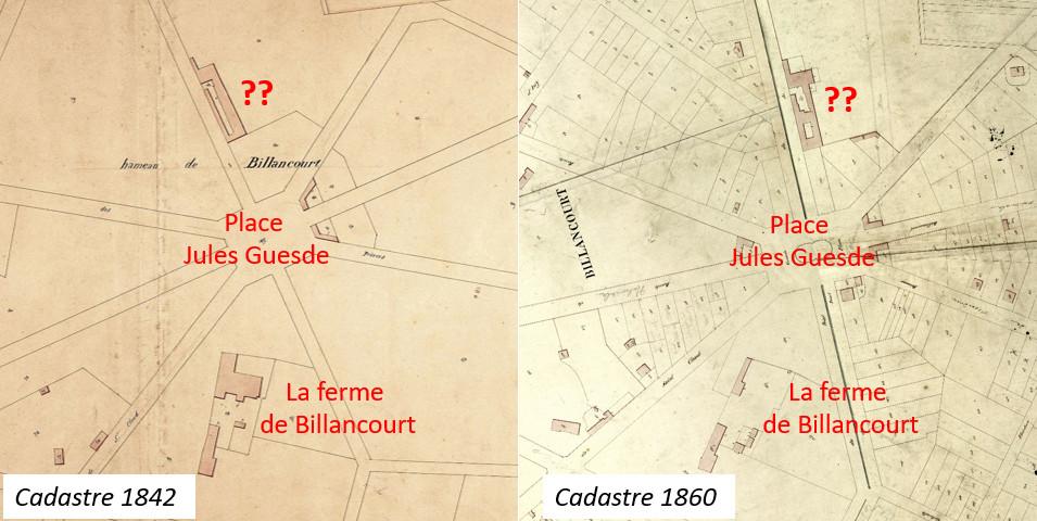 Cadastres 1842 et 1860 2eme ferme