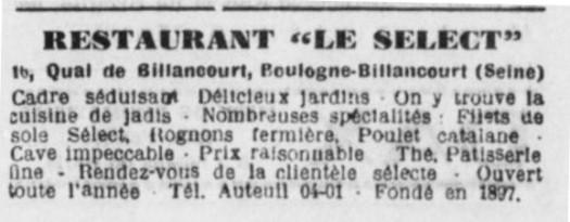 Coupure Presse Aux Ecoutes 1934
