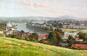E. Poteau - la vallée de la Seine et l'Ile Seguin 1897