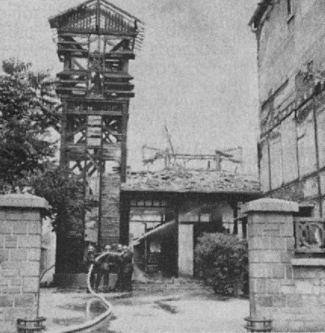 Eglise provisoire incendiée 13 juillet 1966