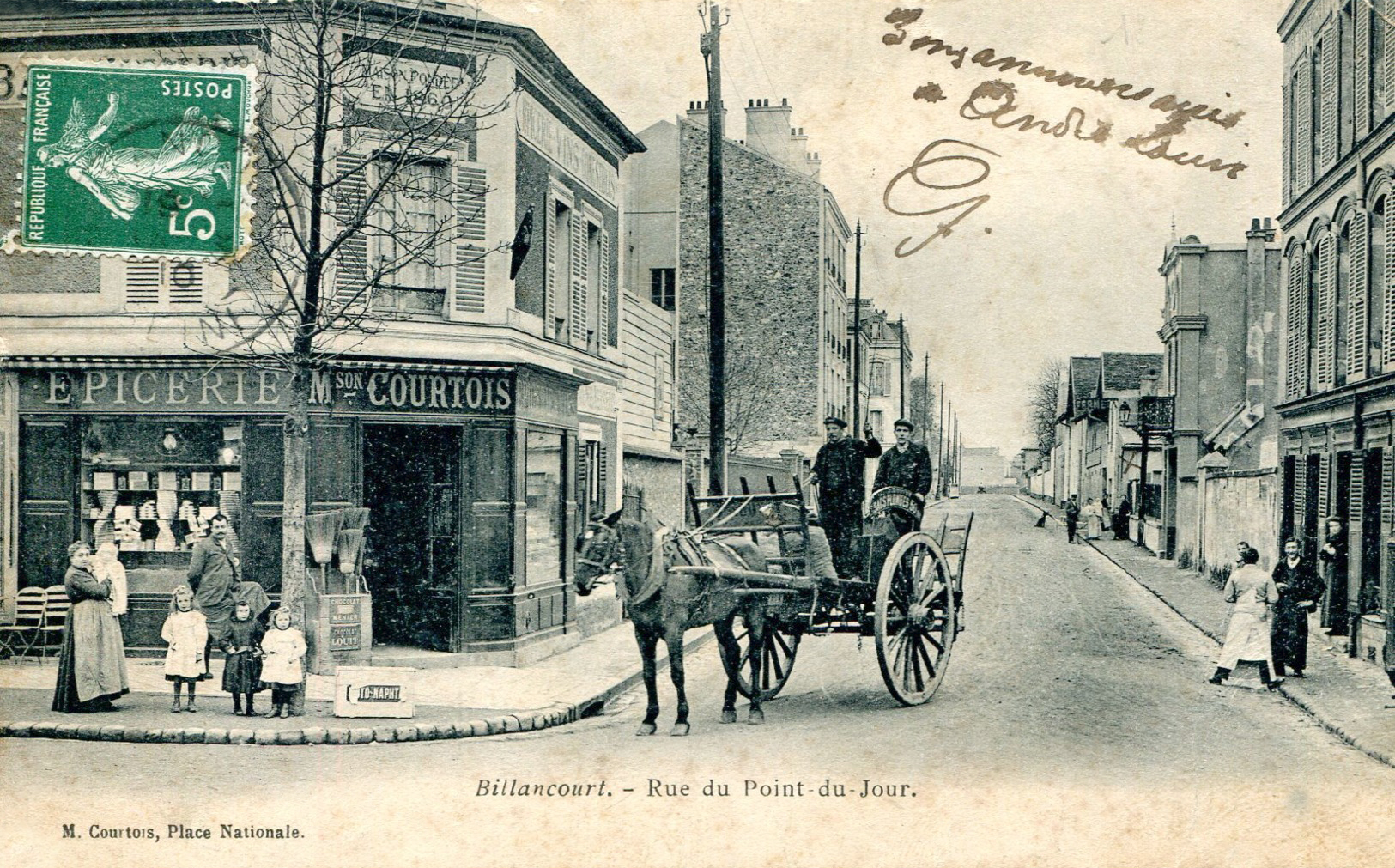 Place Nationale rue du Point-du-Jour famille Courtois