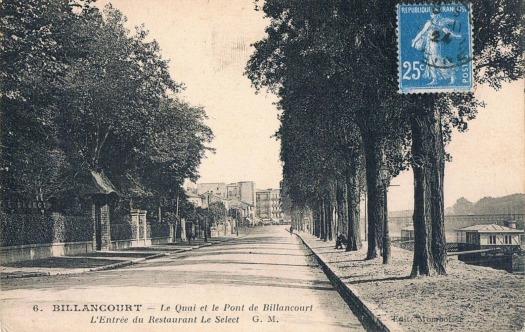 Quai de Billancourt le Select 1924