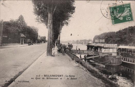 Quai de Billancourt le Select et le Ponton de BillancourtQuai de Billancourt le Select et le Ponton de Billancourt
