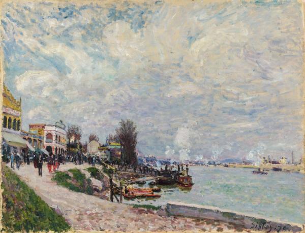 Alfred Sisley - La Seine au Point-du-Jour Billancourt 1878