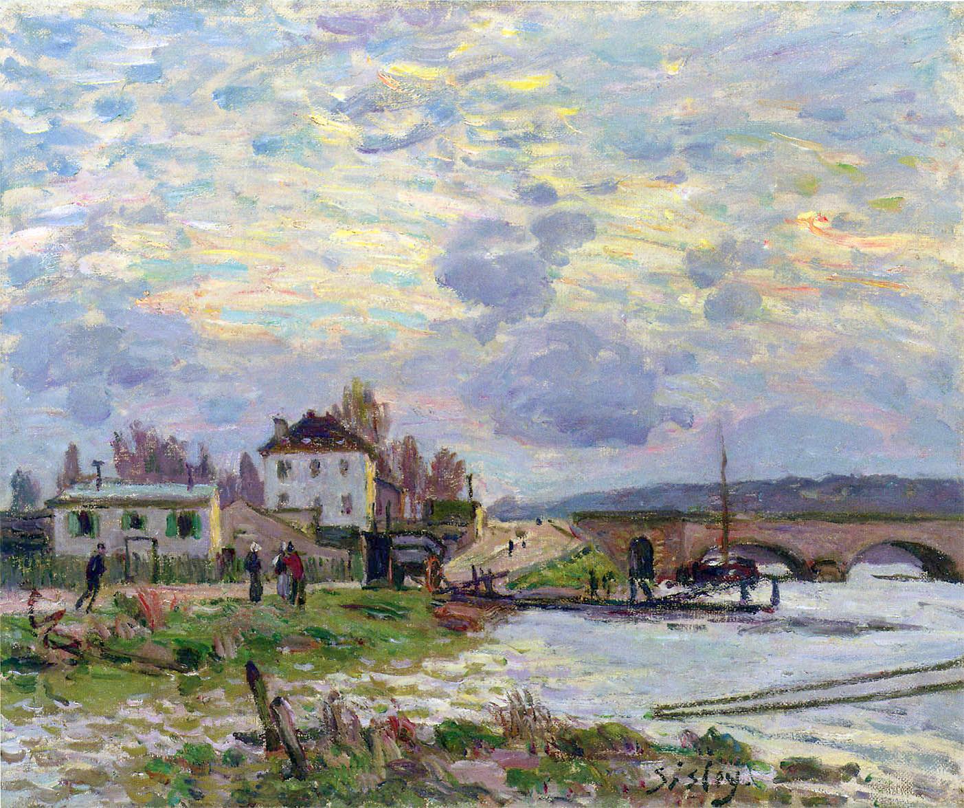 Alfred Sisley - Le pont de Sèvres 1877
