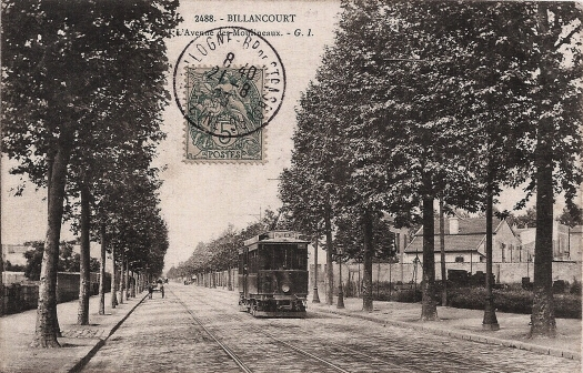 Avenue des Moulineaux ligne 126 du tramway