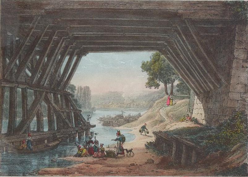 Bacler d'Albe - Le Vieux Pont de Sèvres 1820 env