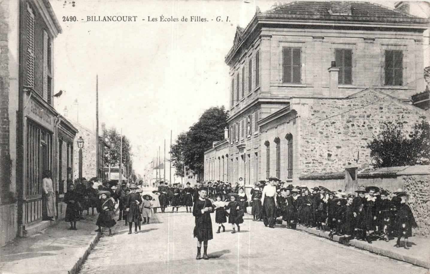 Ecole de filles 147 rue du Vieux-Pont-de-Sèvres vers 1900