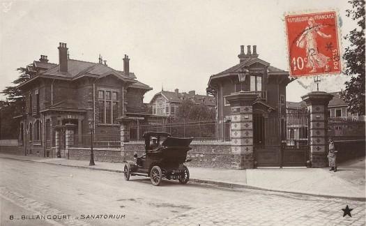 Sanatorium vue de la Route de Versailles, vers la rue Casteja